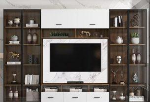 Thiết kế kệ tivi hiện đại nhất năm 2021 tại Chungcu-Gelexiariverside.Com